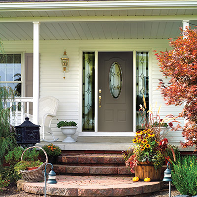 Exterior doors front entry doors patio doors storm for Front entry doors with storm door