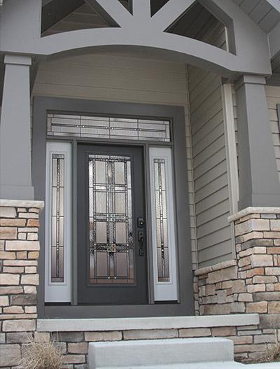 Exterior doors front entry doors patio doors storm for Front entry doors with storm door