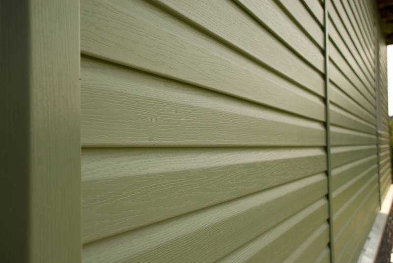 wall of siding
