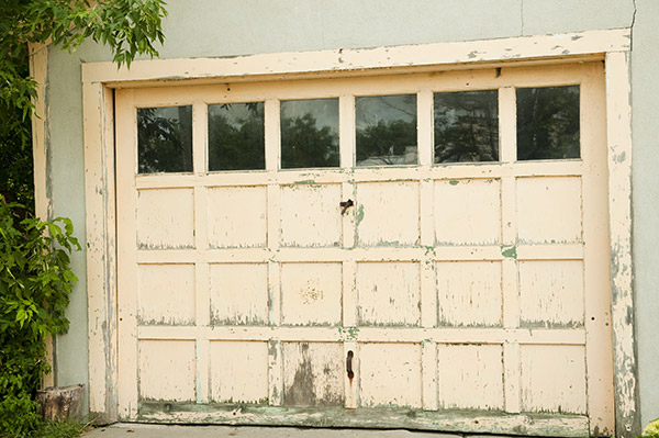 old garage door