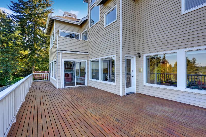 deck with a beautiful patio door